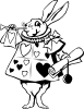 Rabbit From Alice In Wonderland Clip Art
