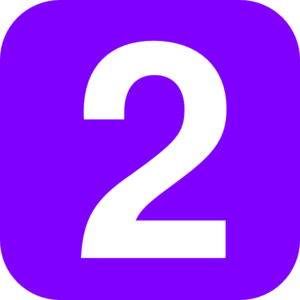 Purple Number Two Clip Art