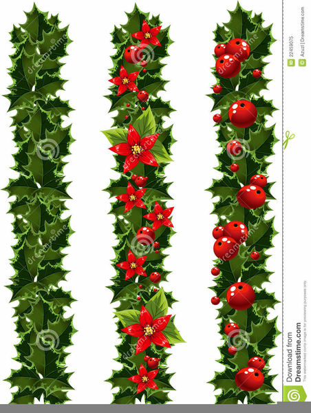 Free Christmas Garland Clipart | Free Images at Clker.com - vector clip art  online, royalty free & public domain