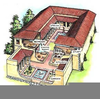 Ancient Greek Homes Clipart Image