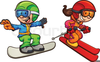 Free Clipart Snowboarding Image