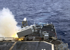 The Destroyer Uss O Bannon (dd 987) Launches A Rim-7 Nato Sea Sparrow Missile During An Exercise Conducted With The Atlantic Fleet Weapons Training Facility Image