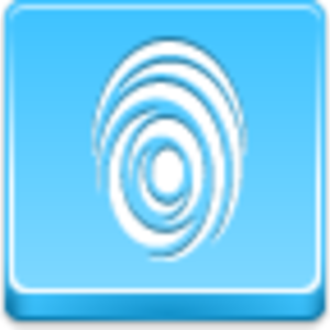 Free Blue Button Icons Finger Print Image
