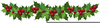 Christmas Holly Border Clipart Image