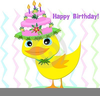 Clipart Duck And Flowers Image