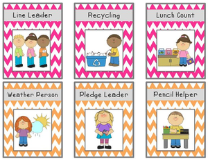 Légend image inside free printable preschool job chart pictures