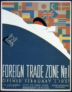 Foreign Trade Zone No. 1 Staten Island, City Of New York, Opened February 1, 1937 / M. Weitzman. Image