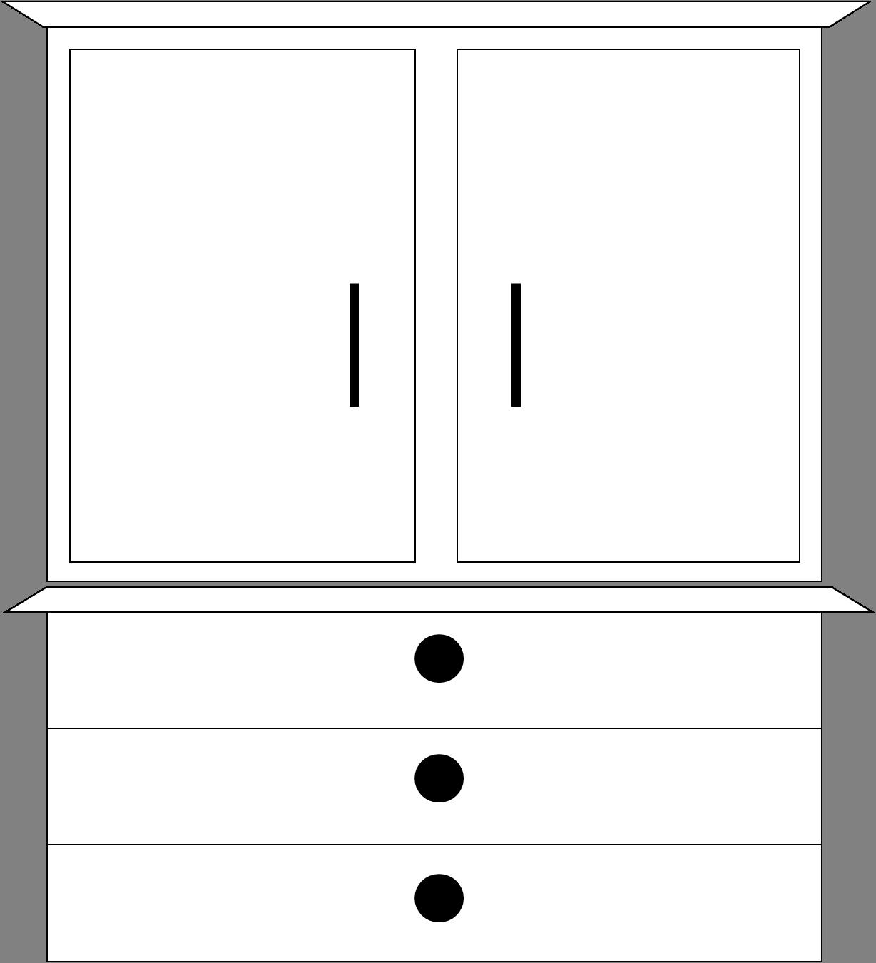 Dresser Bw | Free Images at Clker.com - vector clip art ...