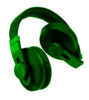 Green Headphones Image