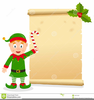 Funny Christmas Elf Clipart Image