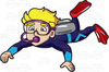 Deep Sea Diving Clipart Image