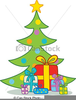 Presents Under Christmas Tree Clipart Image