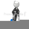 Man On Crutches Clipart Image