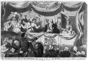 The Horrid Assassin Is Hatfield, Attemting To Shoot The King In Drury Lane Theatre On The 15th Of May, 1800 Image