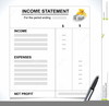 Income Statement Clipart Image