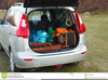 Car With Luggage Clipart Image