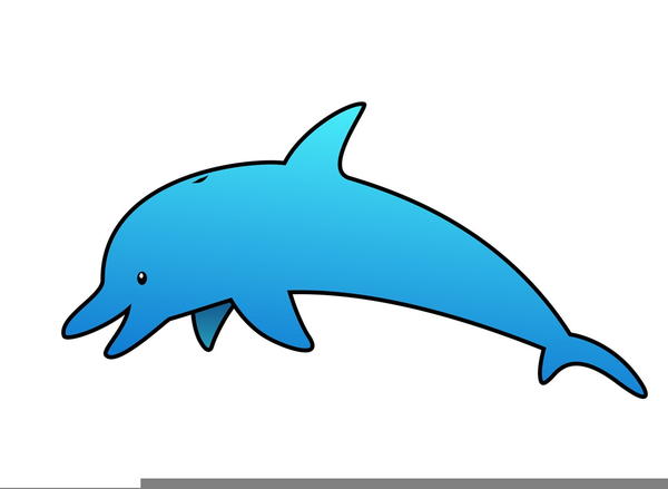 dolphins clipart free free images at clker com vector clip art rh clker com dolphin clip art free download cute dolphin clipart free