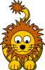 Lion Looking Down Clip Art