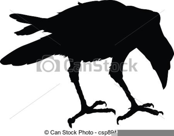 Silhouette Raven Clipart | Free Images at Clker.com ...