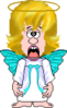Crossed Eyed Angel Clip Art