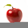 One Large Red Apple Clipart Image