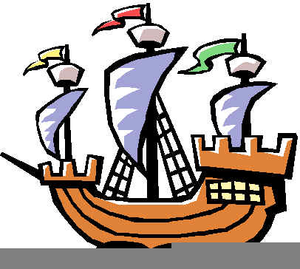 Columbus Sailing Ship Clipart Image