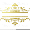 Gold Wedding Bands Clipart Image