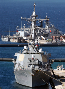 Uss Laboon (ddg 58) Arrives In Souda Bay For A Brief Port Visit. Image