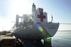 Military Sealift Command Hospital Ship Usns Comfort (t-ah 20) Pier Side At Her First Port-of-call At Naval Stat