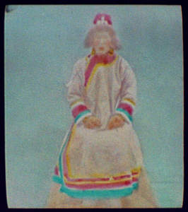 Goldes Woman, Wife Of Village Chief, Smoking Pipe Image