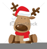 Santa And Reindeer Clipart Image