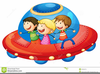Kids Spaceship Clipart Image