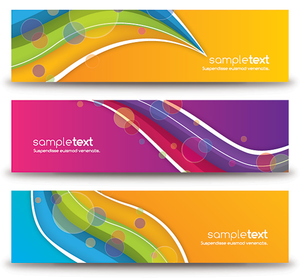 Colorful Abstract Banners Image