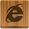Free Wood Button Internet Explorer Image