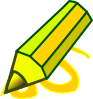Yellow Pencil Clip Art