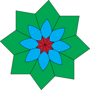 Kaleidoscope Flower Image
