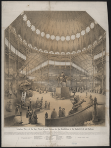 Interior View Of The New York Crystal Palace For The Exhibition Of The Industry Of All Nations Image