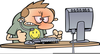 Free Clipart Frustrated Person At Computer Image