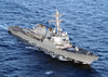 The Guided Missile Destroyer Uss Donald Cook Underway In The Mediterranean Sea. Image