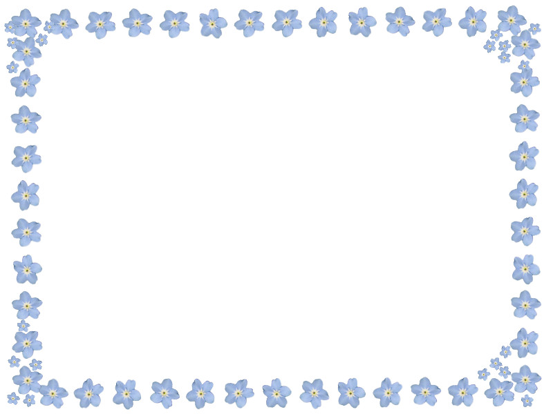 Forget Me Not Clip Art Forget me not frame image