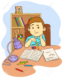 Do my homework clipart