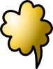 Talking Cloud Icon Clip Art