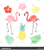 Party Flamingo Clipart Image