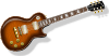 Guitar With Flametop Finish Clip Art