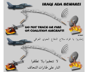 Coalition Aircraft Have Been Dropping Leaflets Urging Iraqi Military Forces Not To Engage Coalition Aircrews.  Leaflets Also Lay Out The Consequences Of Such Actions In An Effort To Ensure Local Civilian Populations Are Properly Informed Image
