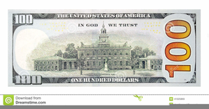 One Hundred Dollar Bill Clipart Image