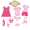 Baby Clothing Clipart Image