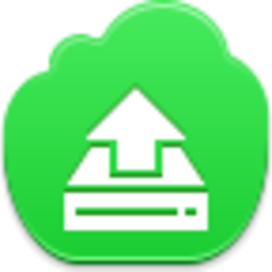 Free Green Cloud Drive Upload Image