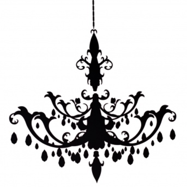 Wall decal chandelier high def photos