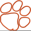 Free Tiger Paws Print Clipart Image